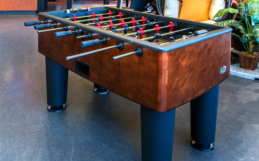 soccer sur table table de babyfoot. Black Bedroom Furniture Sets. Home Design Ideas